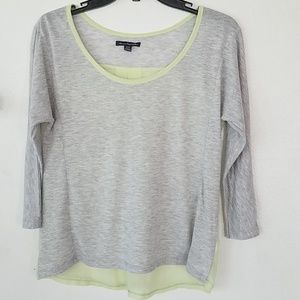 Jr.topgray w/ 3/4 sleeves
